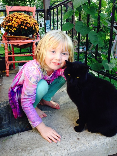 Lizzie and Cat